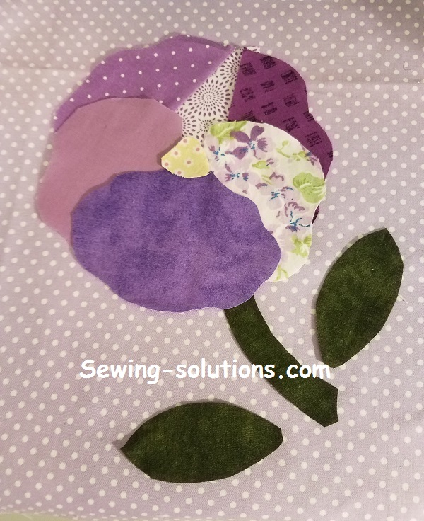 Pansy, flower applique quilt patterns