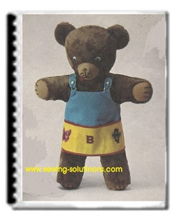 Teddy bear sewing pattern, make your own
