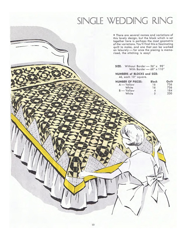 Early American quilt patterns included templates and directions