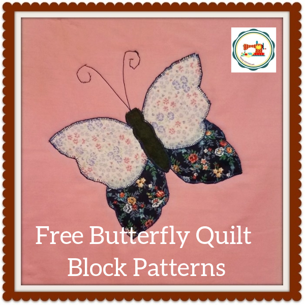 Butterfly applique quilt pattern