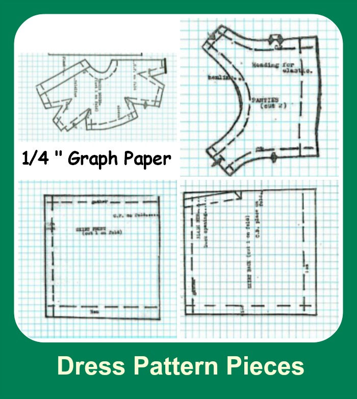 Pattern of dresses for dolls