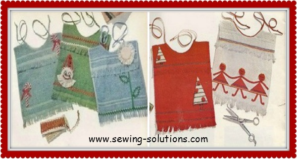 Towel baby bib pattern easy sewing project
