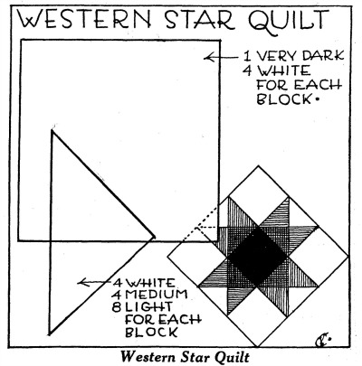 Free Star Quilt Pattern Adorable Western Quilt Patterns