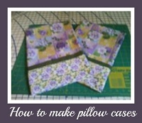 how to sew pillow cases