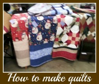 how to sew a bedspread