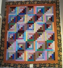 Easy Log Cabin Quilt Block - Free Quilt Patterns, Baby