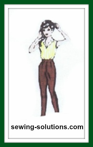 Pattern for fashion dolls, how to sew pants