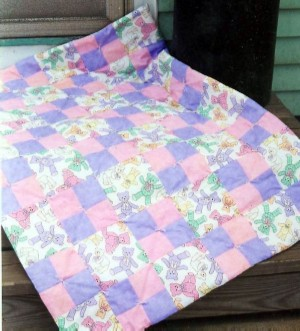 Making Quilts For Beginners Using Easy Baby Quilt Patterns
