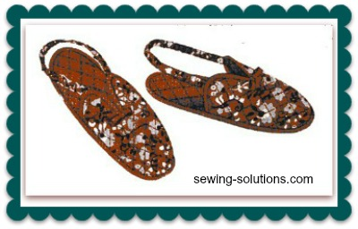 Free pattern sew slippers
