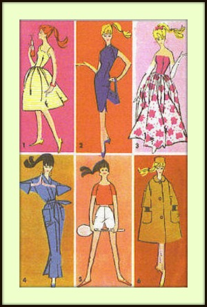 Making doll clothes patterns ebook