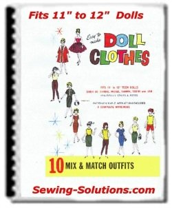 Doll clothes sew book printable