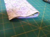 Easy Pillow case pattern step 6