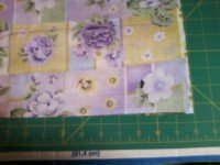 Easy Pillow case pattern step 4