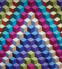 Tumbling block quilt pattern free with quilt instructions : color block quilt pattern - Adamdwight.com